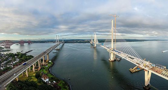 Three centuries of bridge building over the Firth of Forth