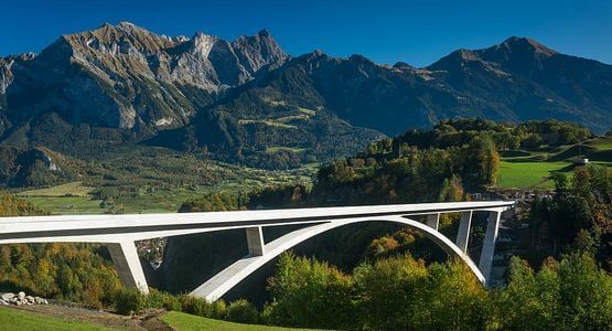The Tamina Bridge in the canton of St. Gallen