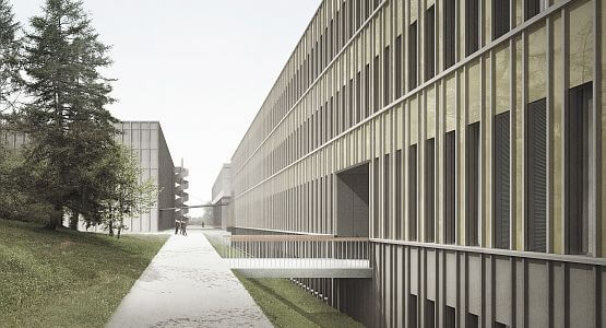 Visualization of the external facade at Laura-Henzner-Weg, Visualization,ZUEND, Zurich