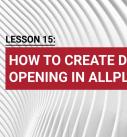 Lesson 15: How to create door opening in Allplan?