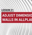 Lesson 21: Adjust dimension walls in Allplan