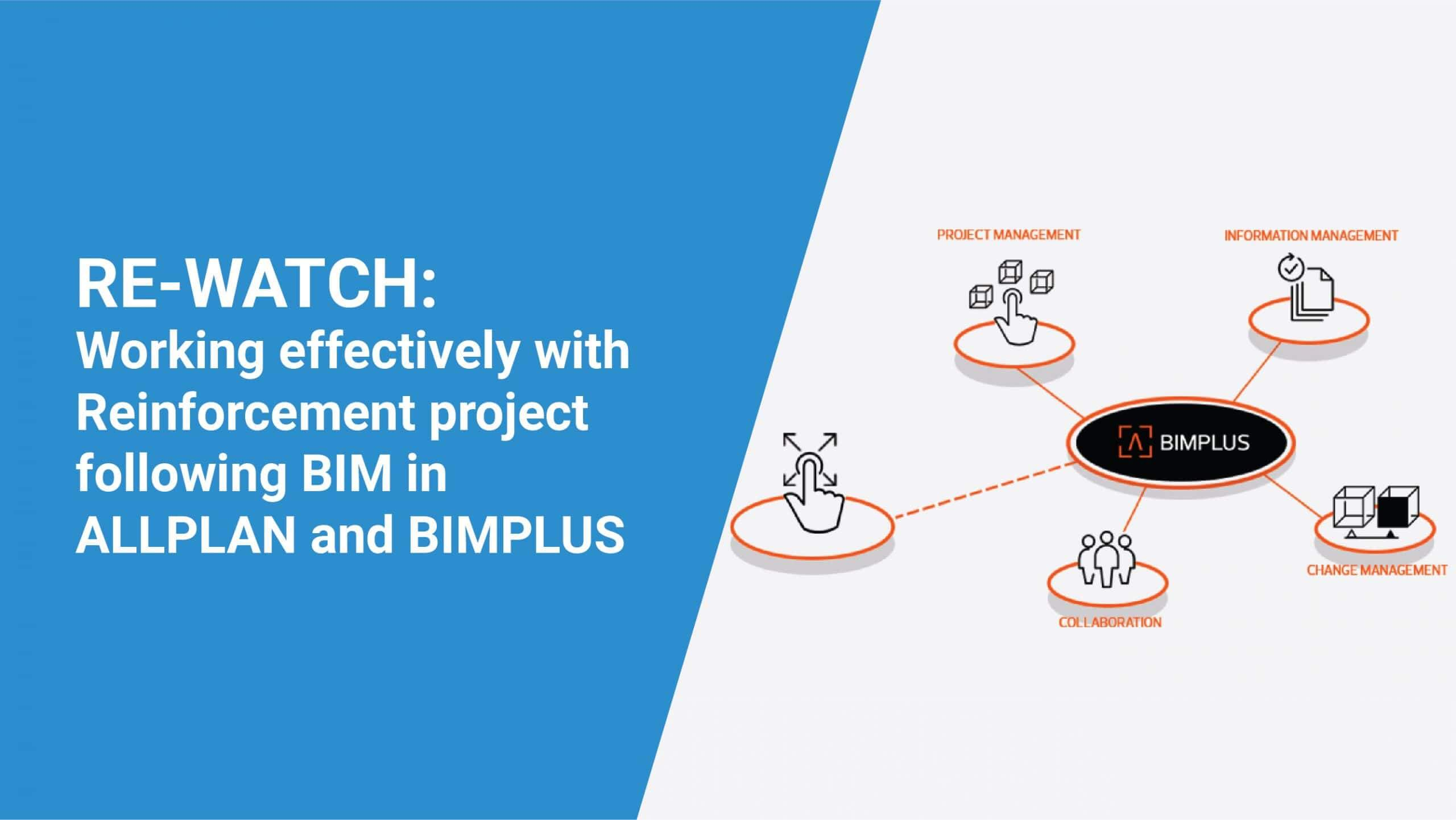 Working effectively with Reinforcement project following BIM in Allplan and BIMPLUS