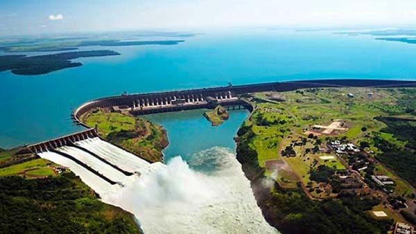 Itaipu Dam on the border of Paraguay and Brazil
